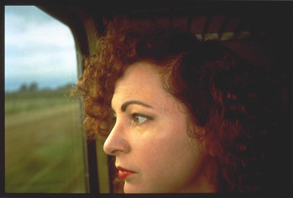 Self-Portrait on the train, Germany 1992 by Nan Goldin born 1953